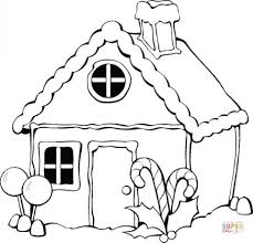 Small Picture Get This Simple Gingerbread House Coloring Pages to Print for