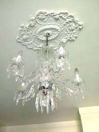 chandelier ceiling medallion for amazing medallions crystal