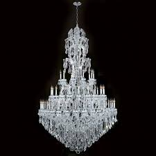 worldwide lighting w83067c65 maria theresa 60 light chrome crystal chandelier 3 tier