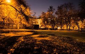 Wallpaper autumn, night, the city ...