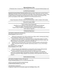 admin assistant resume certified dental assistant resume