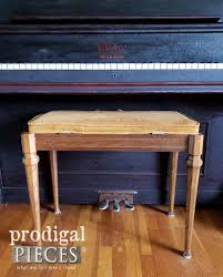 vintage piano bench before makeover by prodigal pieces prodigalpieces com