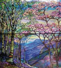 glass painting with color and light
