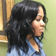 hairstyles ideas trends pretty messy shoulder length for black hair layered wavy curly elegant shoulder length
