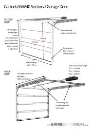 garage door sizes chart standard single garage door size home garage door opener size chart