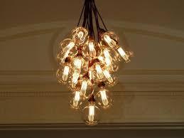 chandeliers chandelier light bulbs cognac clear globe glass pendant lamp branching bubble modern chandelier light