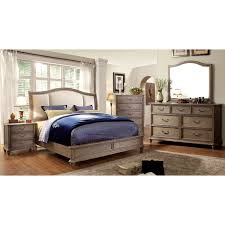 furniture of america minka ii rustic grey 4 piece bedroom set com