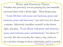 essays peace harmony