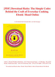Ruhlman Ratio Chart Pdf Download Ratio The Simple Codes Behind The Craft Of