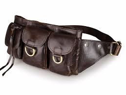 fashion genuine leather waist pack men leather waist bag for men money belt bag pack pouch small shoulder shoe bags cute packs from flaky