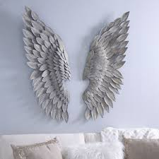 awesome brushed gold angel wing plaques wall decor and picture for large concept patch trends large
