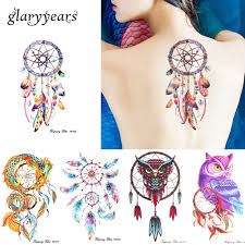 3 Piecesset Hb Dreamcatcher Owl 11 Designs Combination Temporary