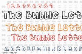 Bubble Letters Font The Bubble Letters Font Download Fonts4free
