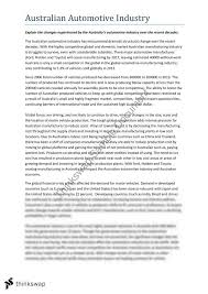 n automotive industry essay year hsc economics   n automotive industry essay