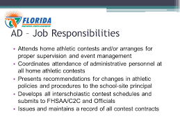 New Athletic Director Workshop Fhsaa Compliance Seminar 2014 Ronald ...
