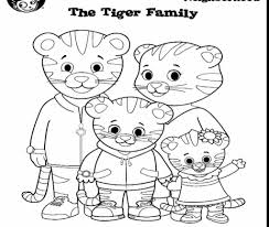 Printable Daniel Tiger Coloring Pages At Getdrawingscom Free For