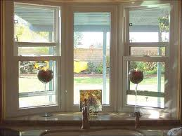 Bow Window Replacement With 3 Lite Double Hungs U0026 Picture Window Bow Window Cost