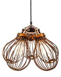 cage lighting. maria steampunk rusted pendant five cage light lighting