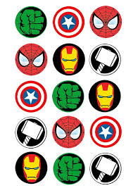 Cupcake And Cookie Wafer Toppers Marvel Characters Somethingforcake