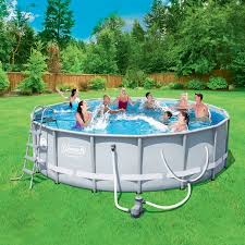 above ground pool walmart. Contemporary Above Above Ground Pool Slide Walmart  With Coleman Power Steel 16 Intended N