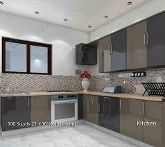 Kitchen Room Interior Way2nirman 100 Sq Yds 25x36 Sq Ft North Face House 2bhk Elevation