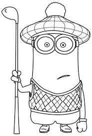 Small Picture Minions coloring pages kevin golf ColoringStar