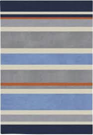 gray blue stripes rug zoom