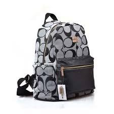 Original Coach Logo Monogram Medium Grey Backpacks ZO1278