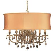 bwood ornate cast brass chandelier with golden teak majestic wood polished crystal and harvest gold shade