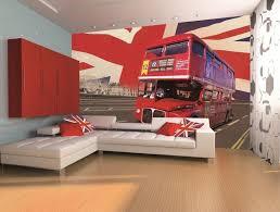 London Wallpaper Bedroom Red London Bus Wall Mural