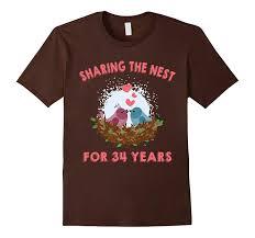 husband wife t shirt 34th wedding anniversary gift ideas pl