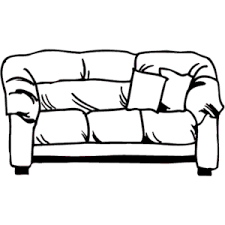 couch clipart black and white. sofa clipart famclipart couch black and white l