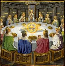 arthurian knights of the round table 15th century in lancelot and the holy