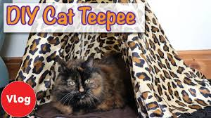 how to make a cat tee easy and fun diy cat toy diy cat tipi tutorial new competition