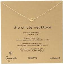 amazon dogeared jewels gifts karma the circle necklace gold plated silver