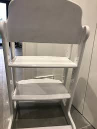 high chair seat wooden painted upcycle