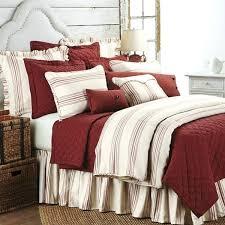 striped duvet cover queen len red
