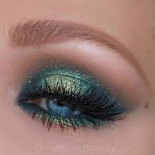 blue green eye makeup green eyeshadow abh subculture palette tutorial