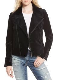 ag adriano goldschmied ag quincy velvet biker jacket