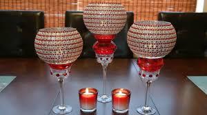 Centerpiece ideas: Red decorative glass candleholder centerpiece - YouTube