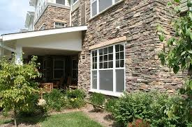 Dry Stack Stone Siding for Home Exterior Accents traditional-exterior