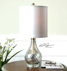 silver chandelier shades pottery barn glass lamps antique mercury table lamp from floor articles with tag