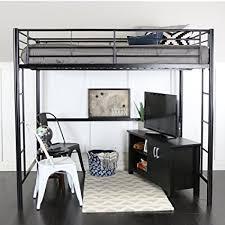 metal design furniture. Walker Edison WE Furniture Loft Bunk Bed, Full, Metal Black Metal Design Furniture A
