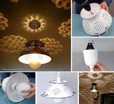diy lighting effects.  effects diy colander lamp tutorial intended diy lighting effects