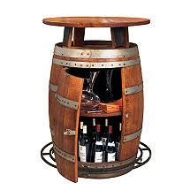 Storage oak wine barrels Liter Vintage Oak Wine Barrel Bistro Table Homedit Wine Barrel Furniture Wine Enthusiast