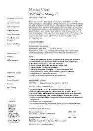 Sample Resume For Any Job Sap Project Manager Resume Sample Job