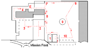 The Priests Quarters Were The Rooms For The Priests  ThingLinkMission San Diego De Alcala Floor Plan