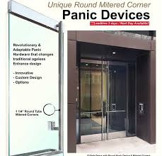 impress your clients with prl s round mitered corner panic device