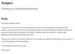 Follow Up Email After Interview Example Sample Status Brilliant