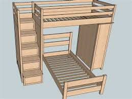 Bunk Bed Stairs Design Ideas for Minimalist Home Design Modern